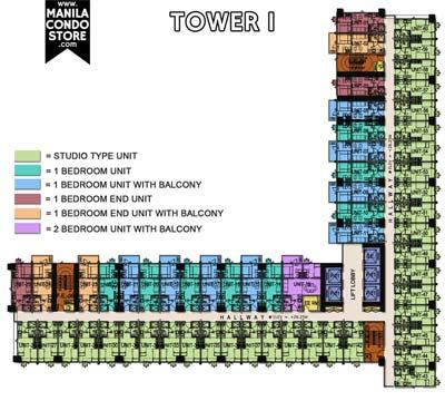 SMDC Sun Residences Quezon City Condo Tower 1 Floor Plan