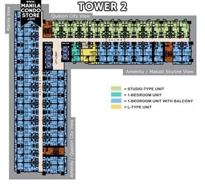SMDC Sun Residences Quezon City Condo Tower 2 Floor Plan