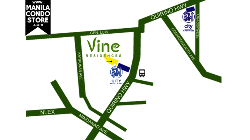 SMDC Vine Residences Quezon City Condo Location Map