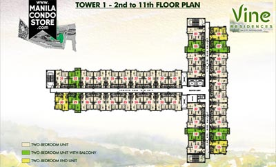 SMDC Vine Residences Novaliches Quezon City Condo Tower 1 Floor Plan