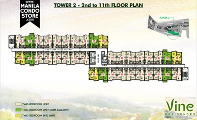 SMDC Vine Residences Novaliches Quezon City Condo Tower 2 Floor Plan