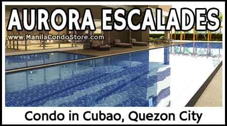 Robinsons Aurora Escalades Cubao Quezon City Condo